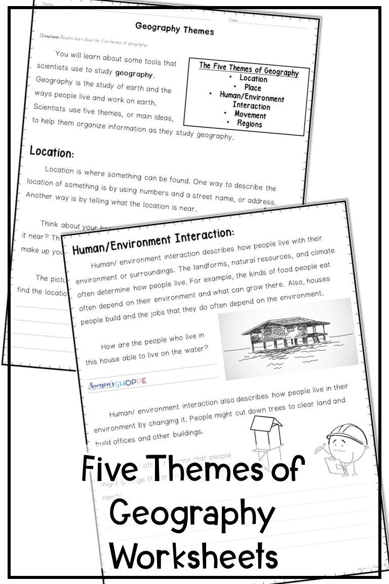 5 themes Of Geography Worksheet 5 themes Of Geography Reading and assessment