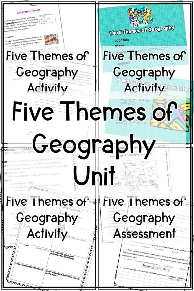 5 themes Of Geography Worksheet Five themes Of Geography Unit