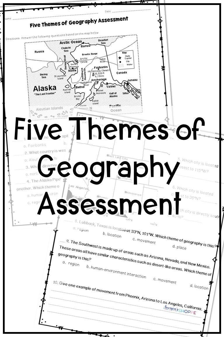 5 themes Of Geography Worksheet Pin On Printable Blank Worksheet Template