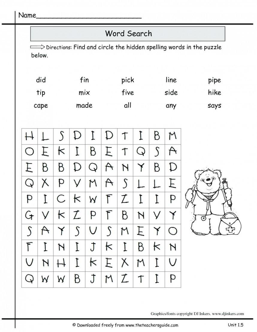 6th Grade Spelling Worksheet 2nd Grade Spelling Worksheets for Educations 2nd Grade