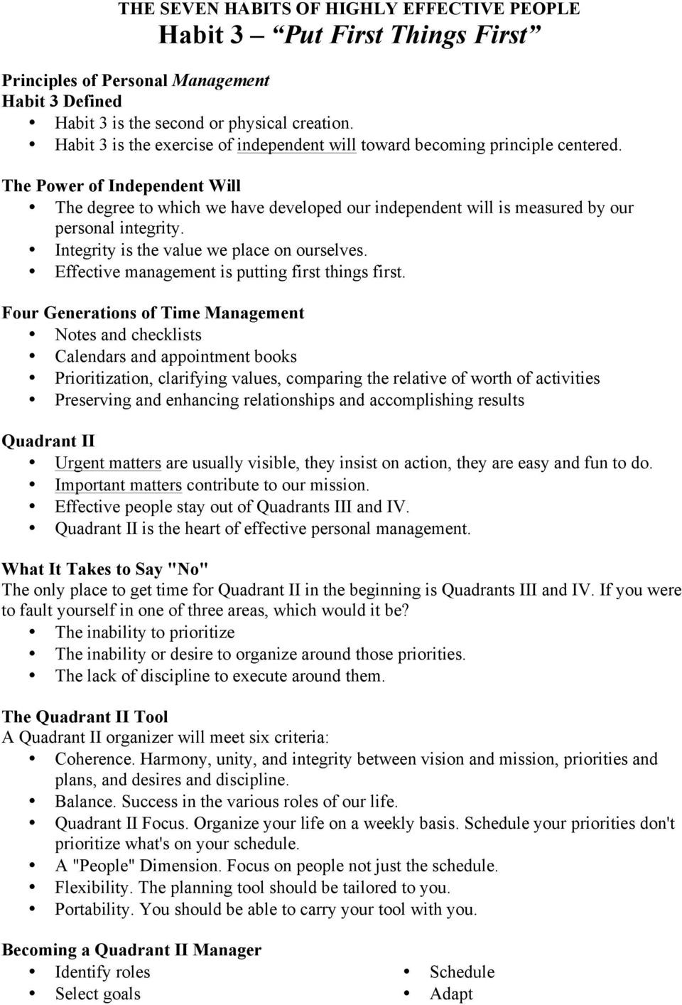 7 Habits Worksheet Pdf the Seven Habits Of Highly Effective People by Stephen R