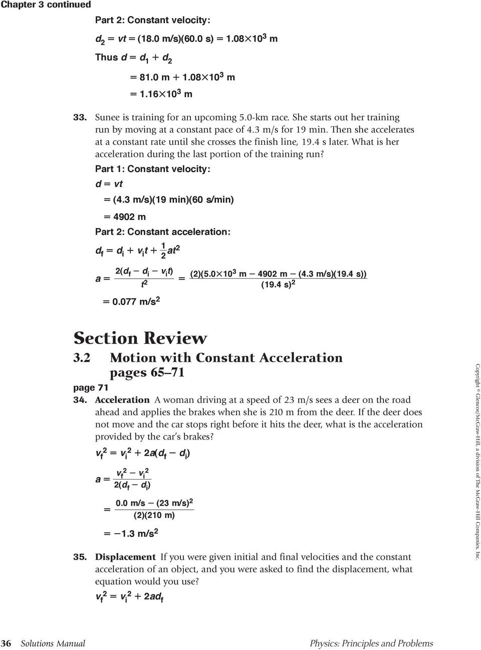 Acceleration Practice Problems Worksheet 3 Accelerated Motion Practice Problems 3 1 Acceleration