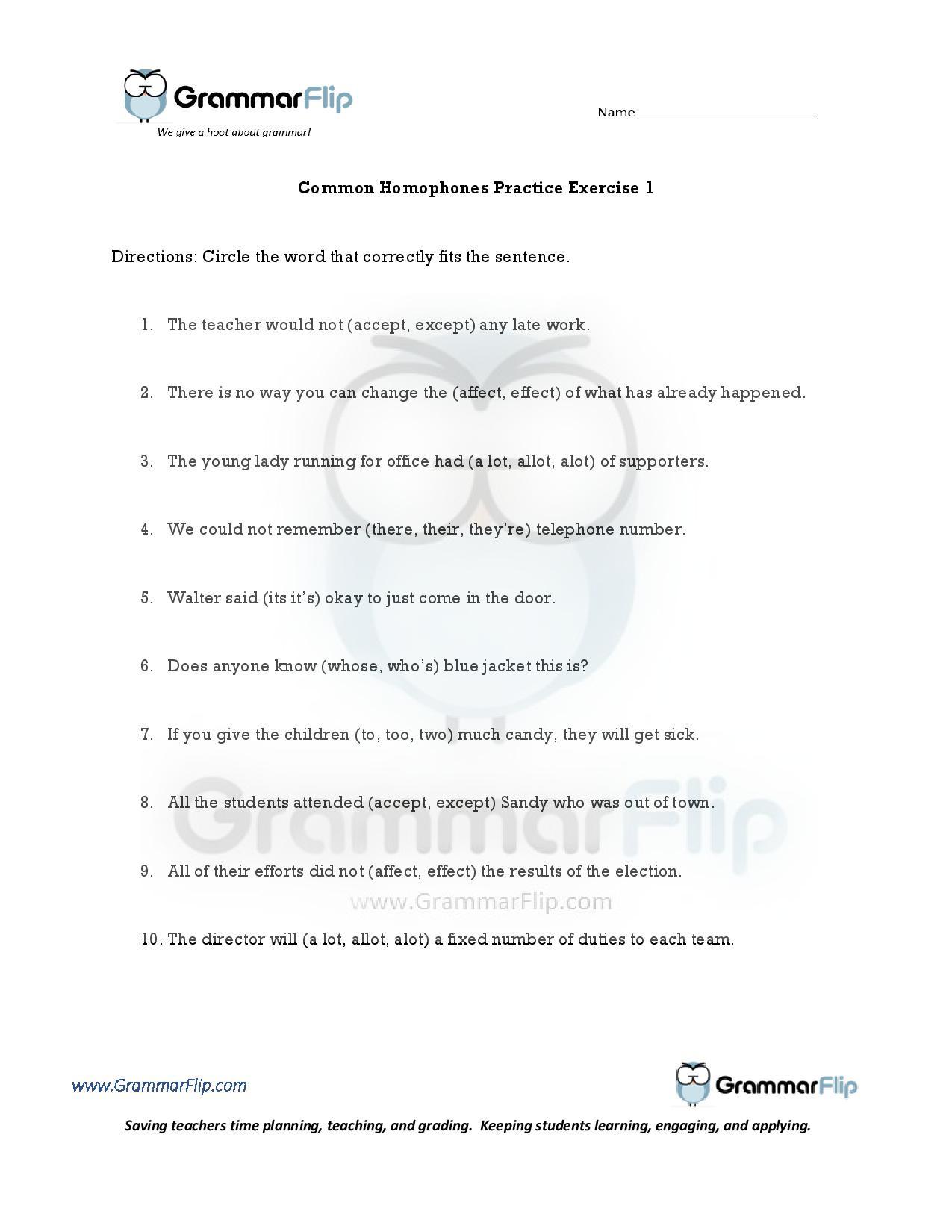 Affect Vs Effect Worksheet Worksheets