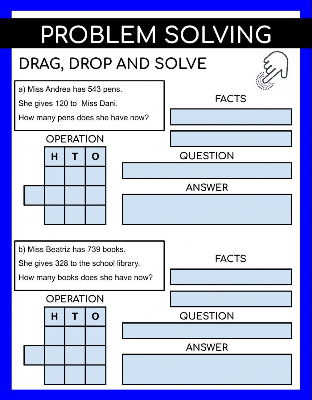 Age Word Problems Worksheet Problem solving Interactive Worksheet