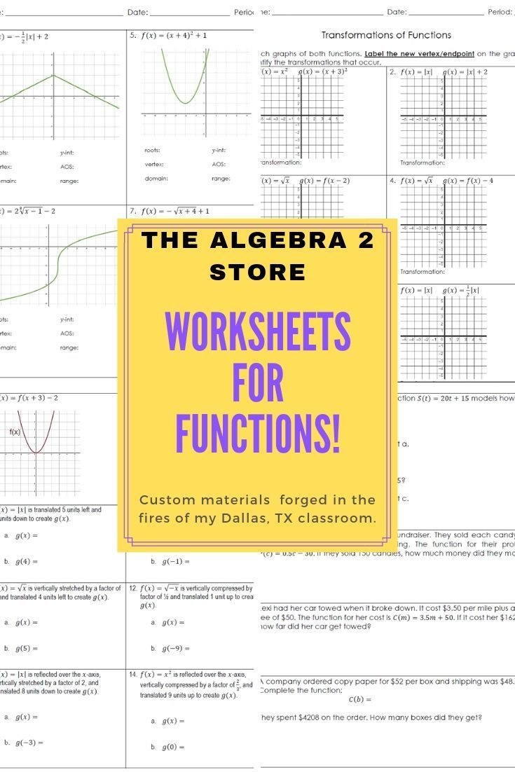 Algebra 1 Function Notation Worksheet 01 00 attributes Of Functions Unit