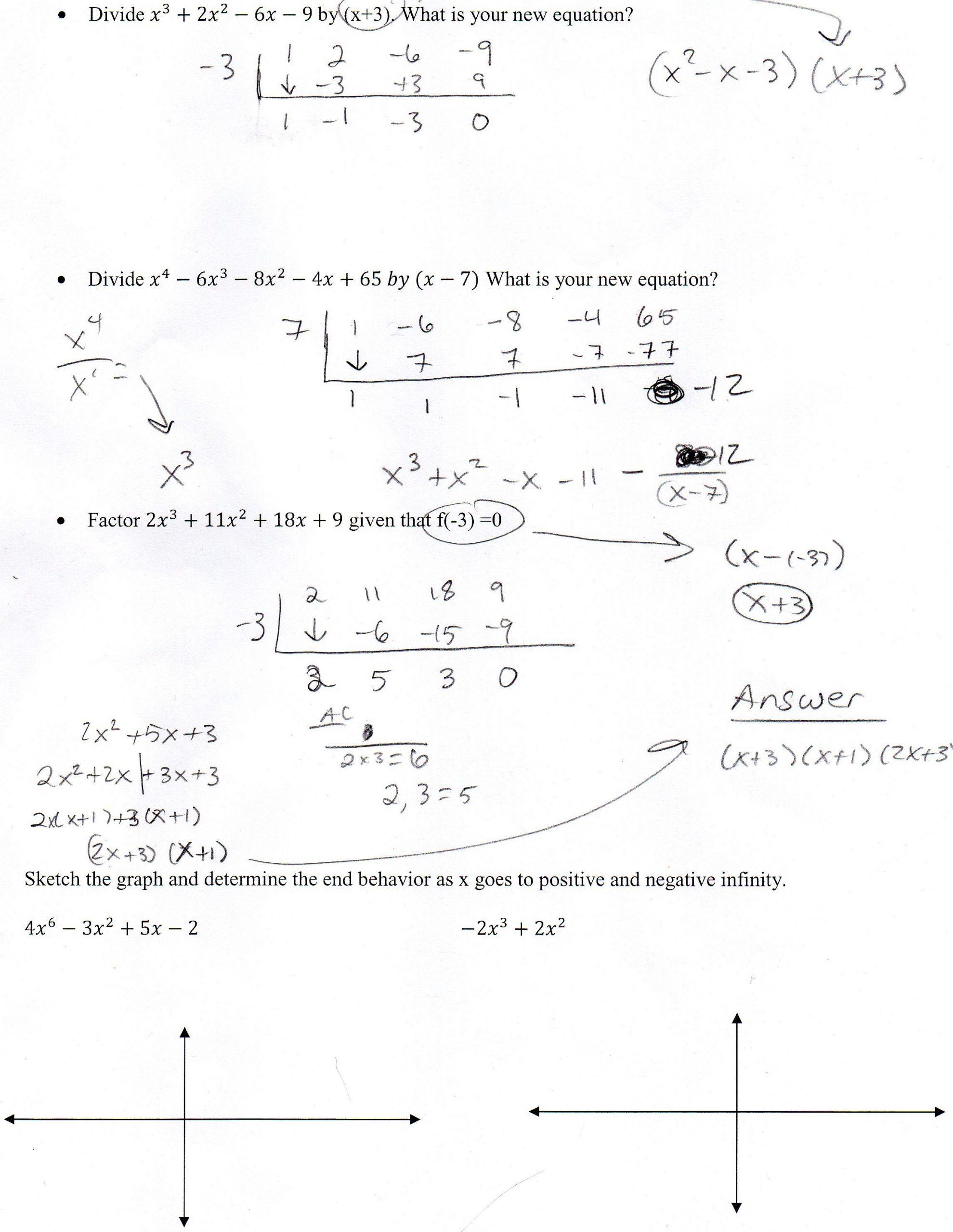 Algebra 2 Review Worksheet Algebra Ii Mr Shepherd S Pasture