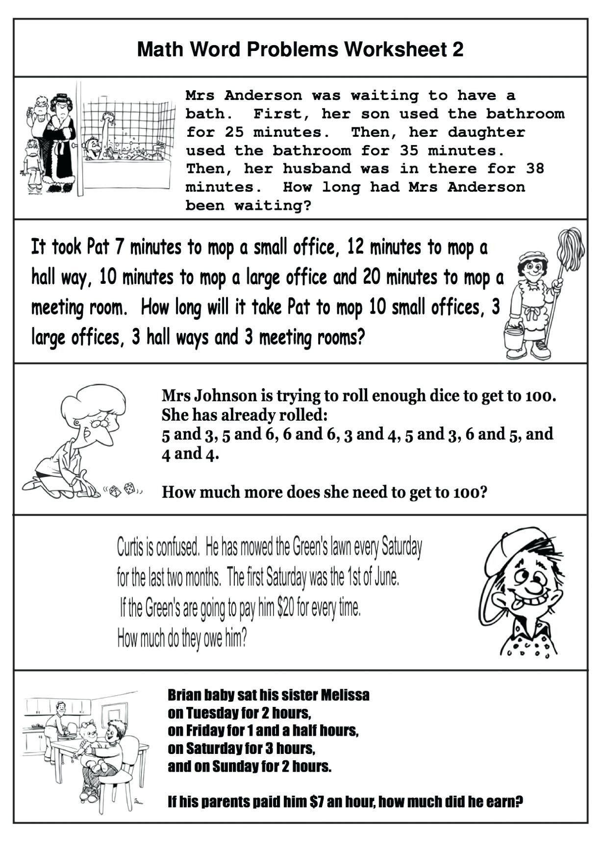 Algebra Word Problems Worksheet Pdf 4 Free Math Worksheets Third Grade 3 Addition Word Problems
