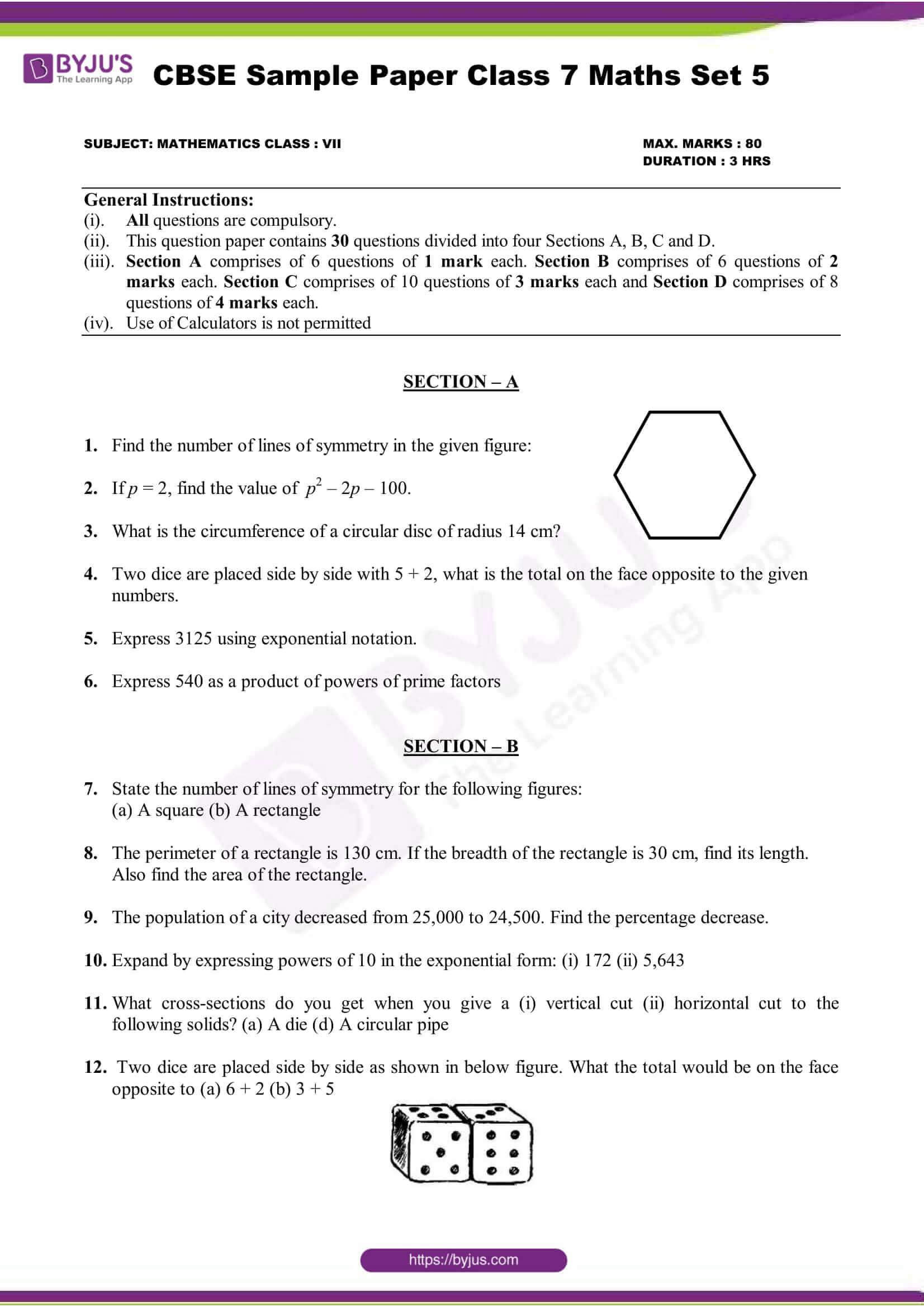Algebra Word Problems Worksheet Pdf Cbse Maths Sample Paper Set Pdf 7th Grade Worksheets Basic