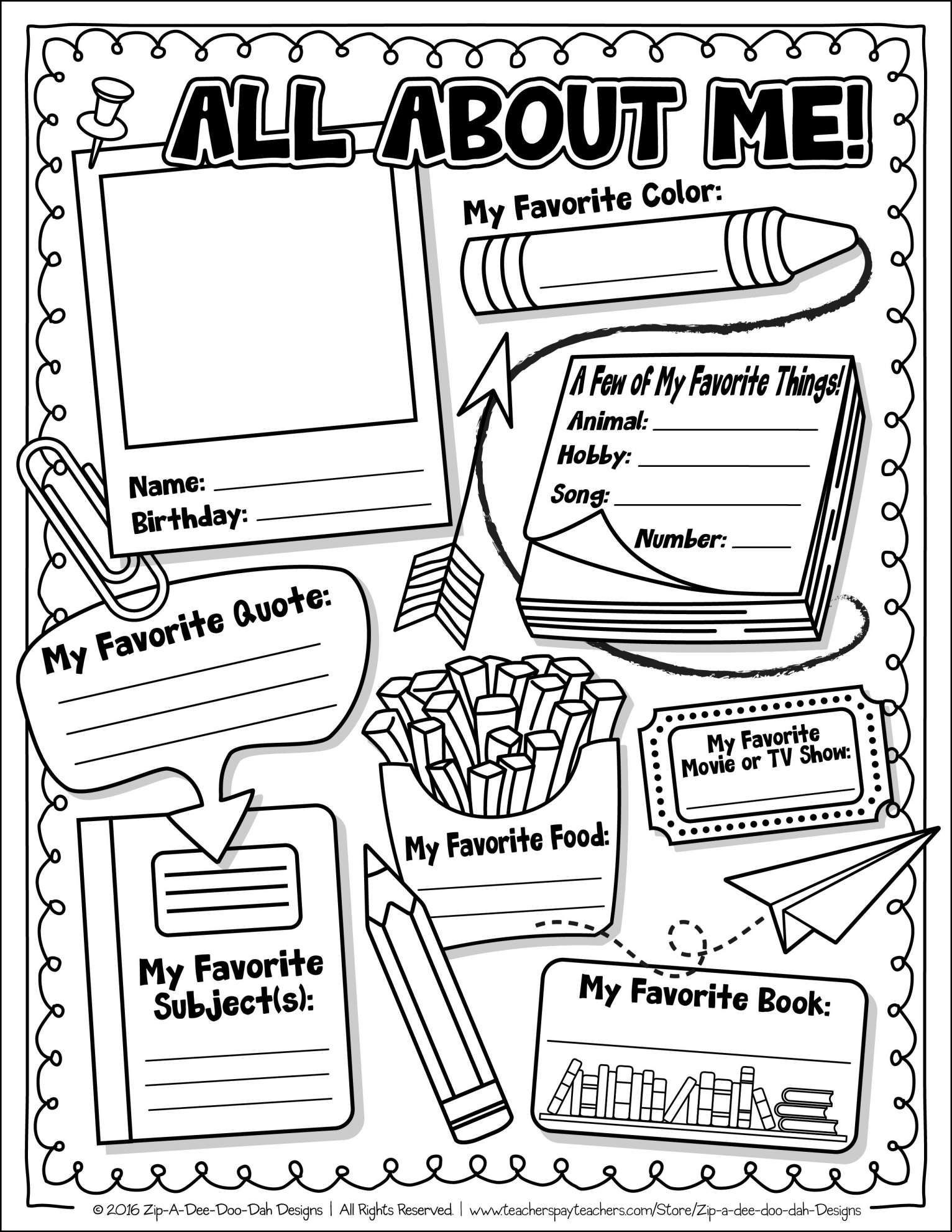 All About Me Worksheet 7 All About Me Worksheet 4th Grade Free Grade
