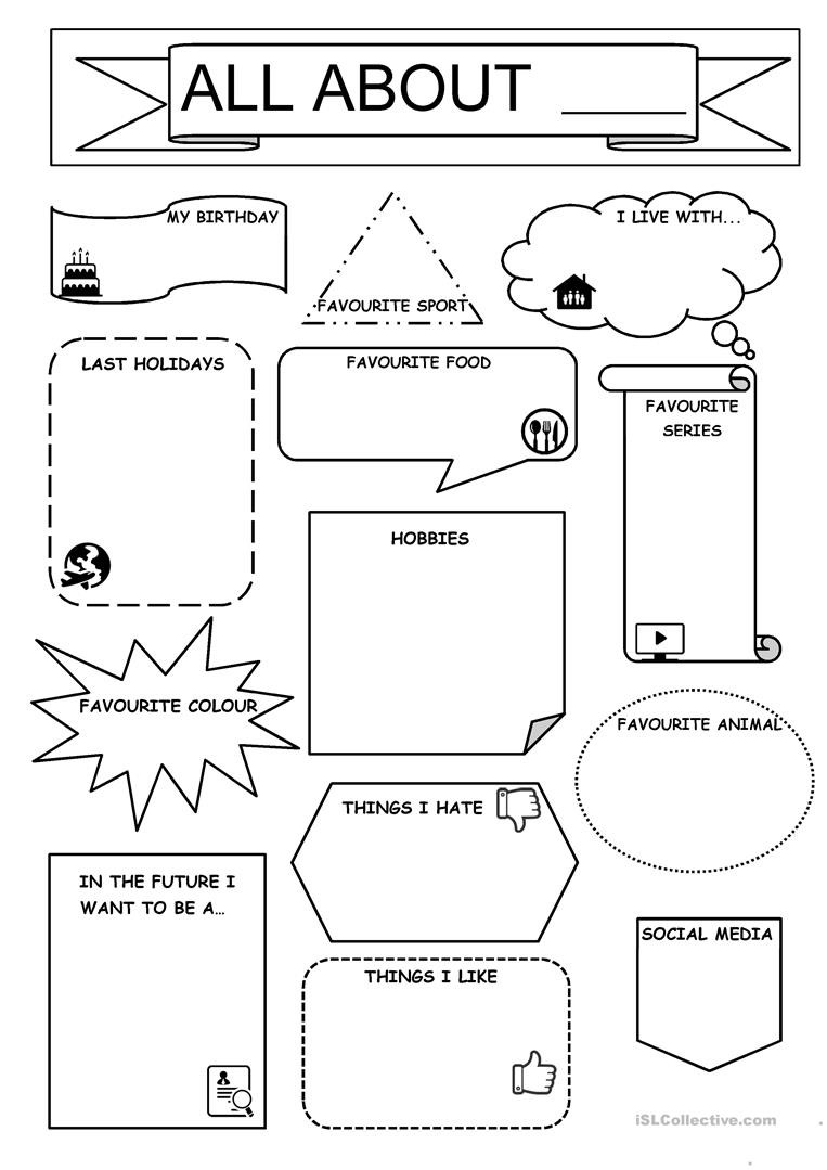 All About Me Worksheet All About Me English Esl Worksheets for Distance Learning