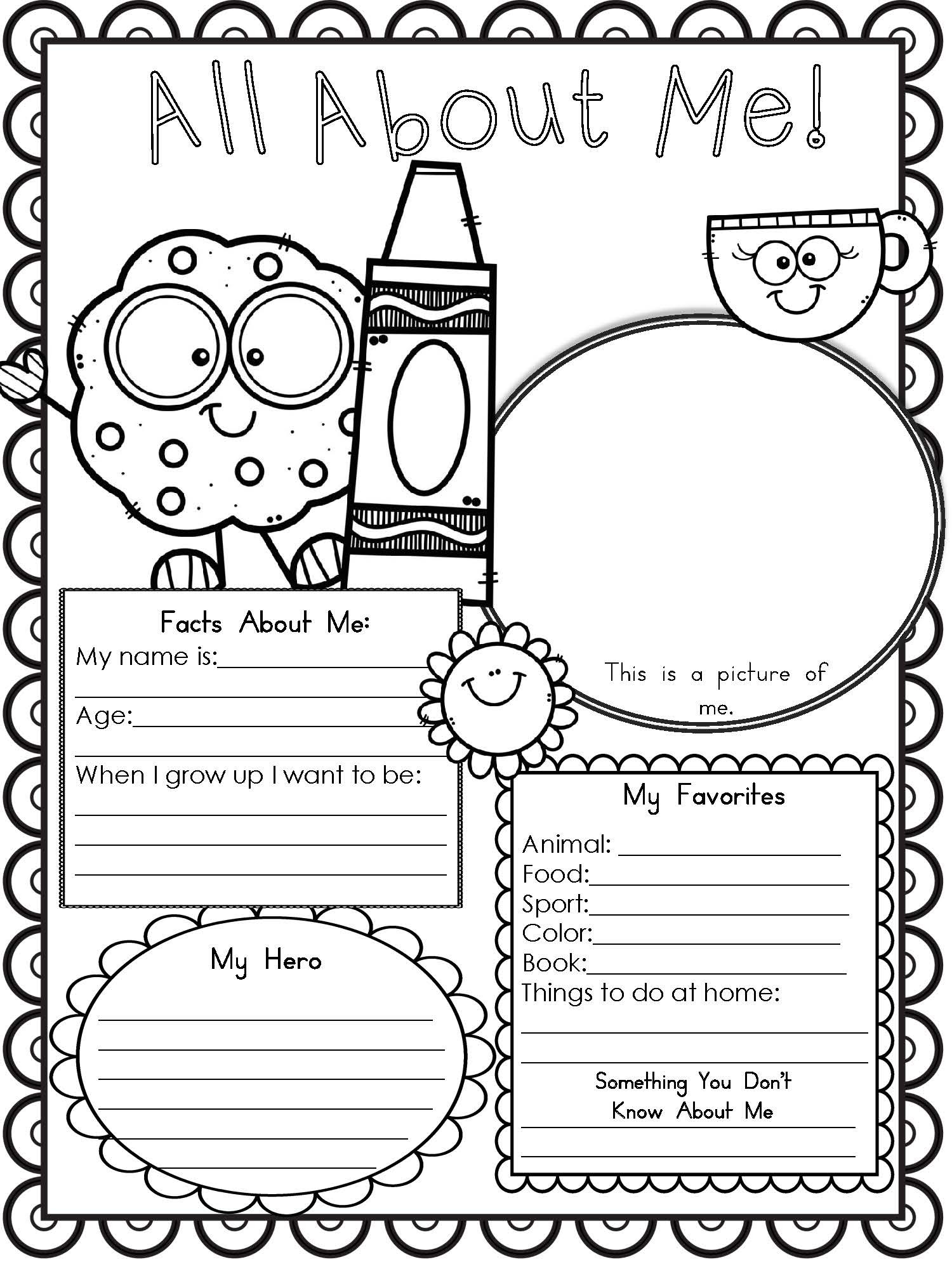 All About Me Worksheet Free Printable All About Me Worksheet Modern Homeschool Family