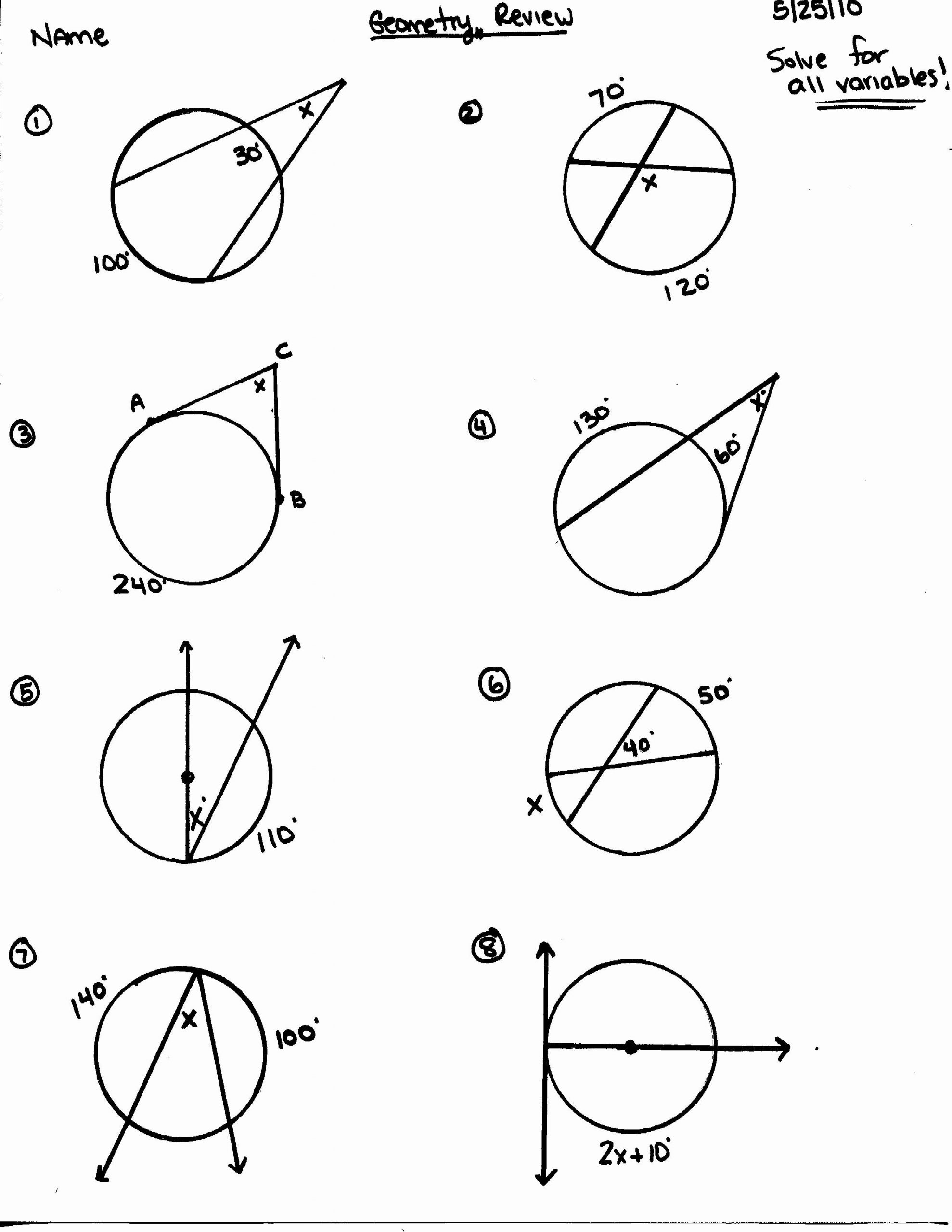 Angles In A Circle Worksheet Angles In A Circle Worksheet Lovely Circle theorems Match Up