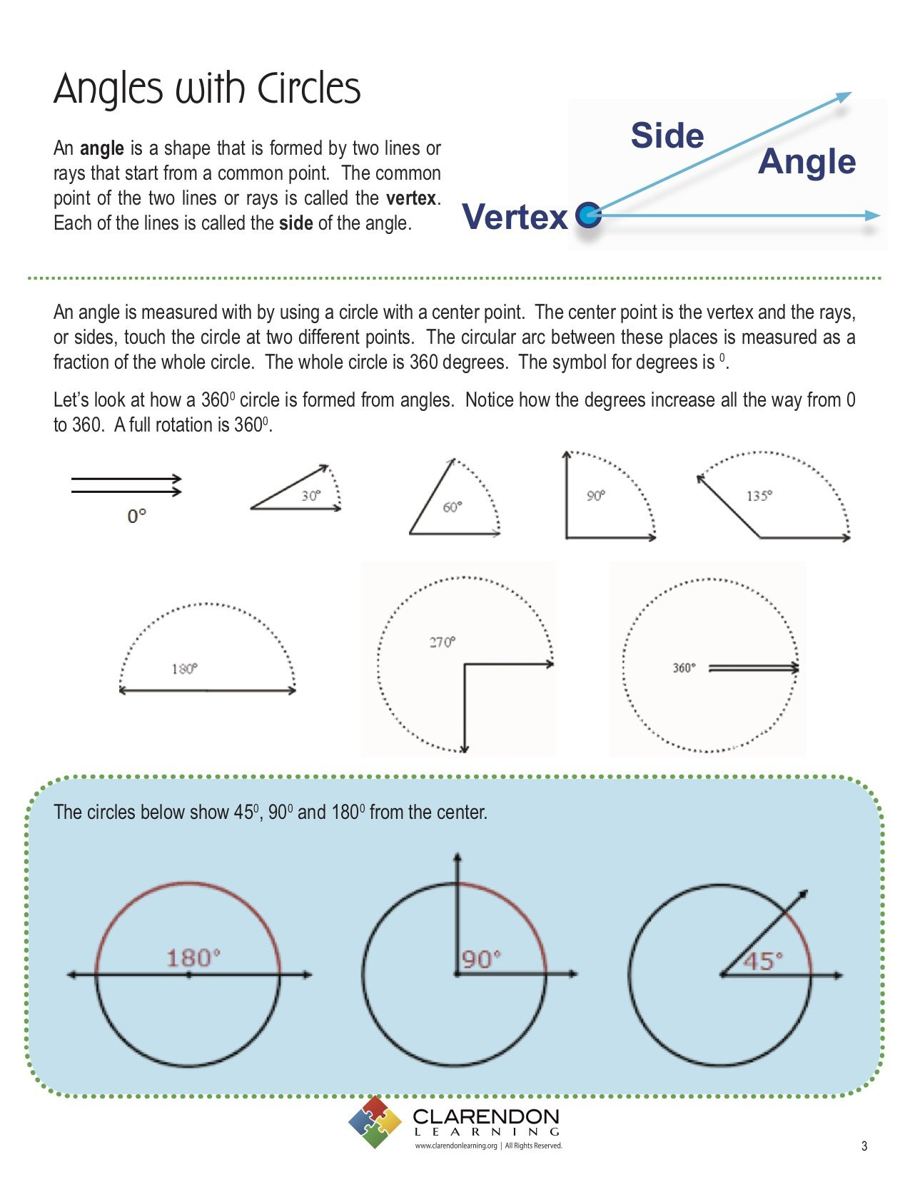 Angles In A Circle Worksheet Angles with Circles