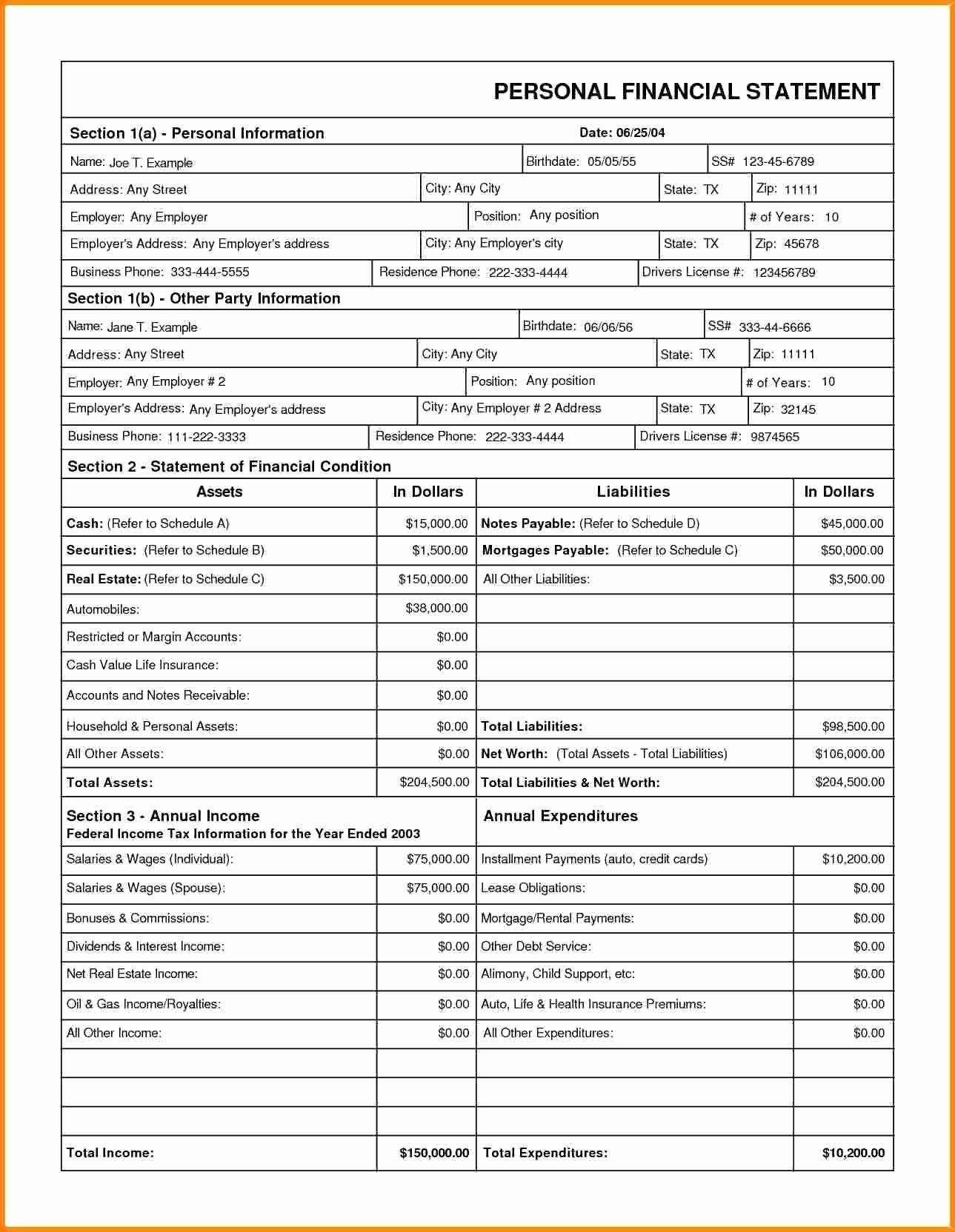 Assets and Liabilities Worksheet New Personal assets and Liabilities Template Excel Xls