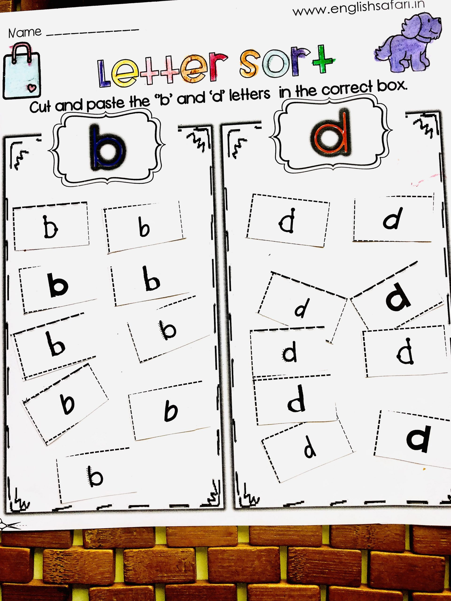 B and D Worksheet B and D Confusion Worksheets Free
