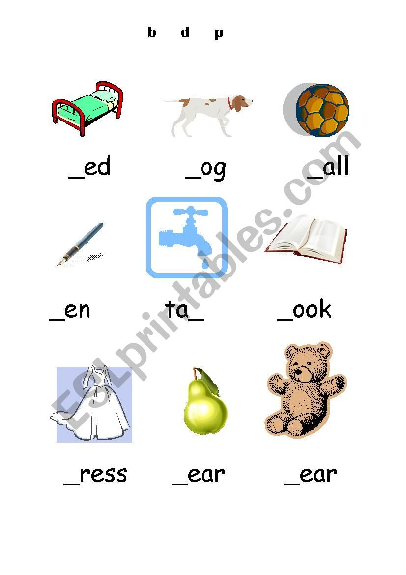 B and D Worksheet B D and P Esl Worksheet by Minxy