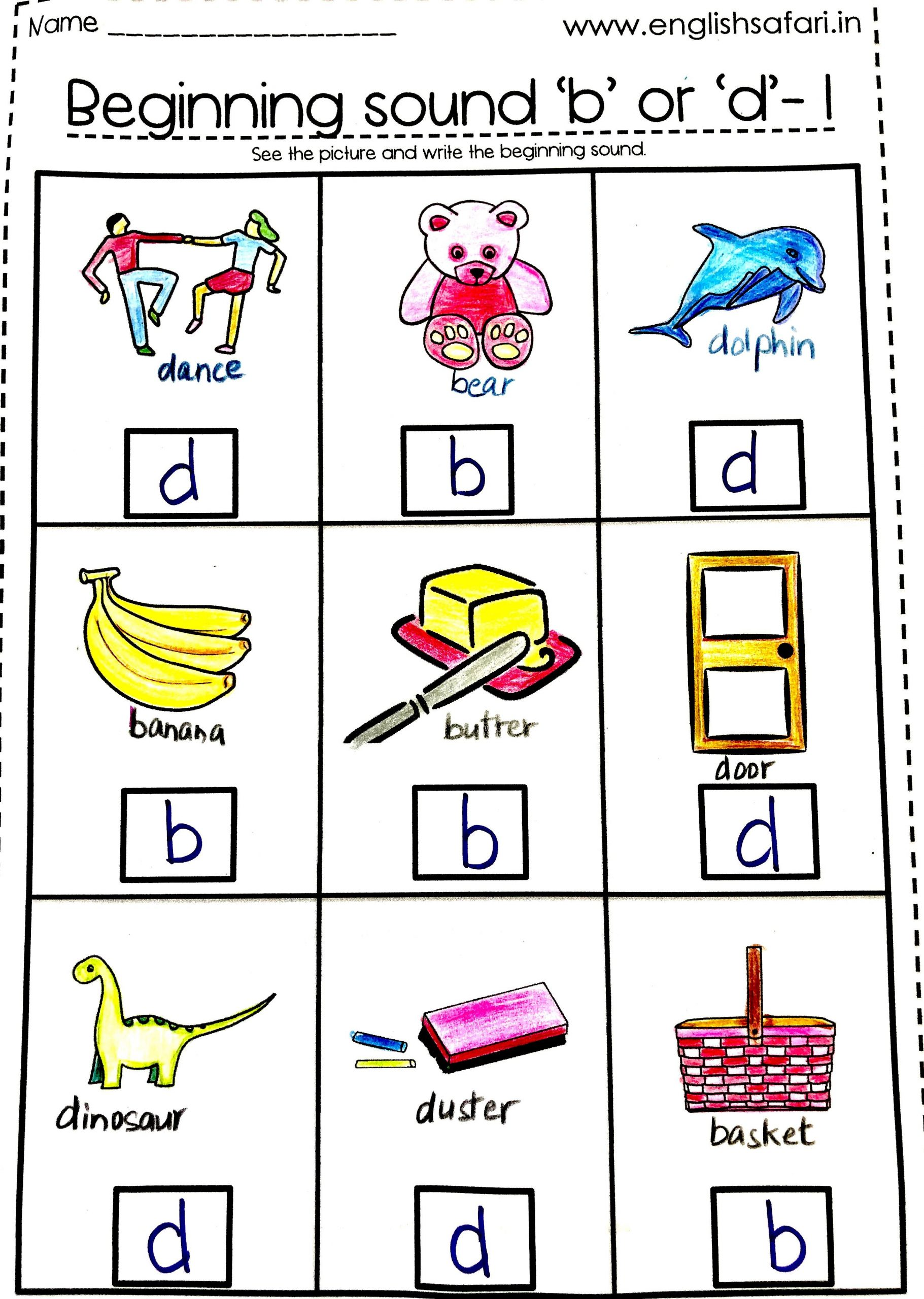 B and D Worksheet Free B and D Letter Reversal In 2020