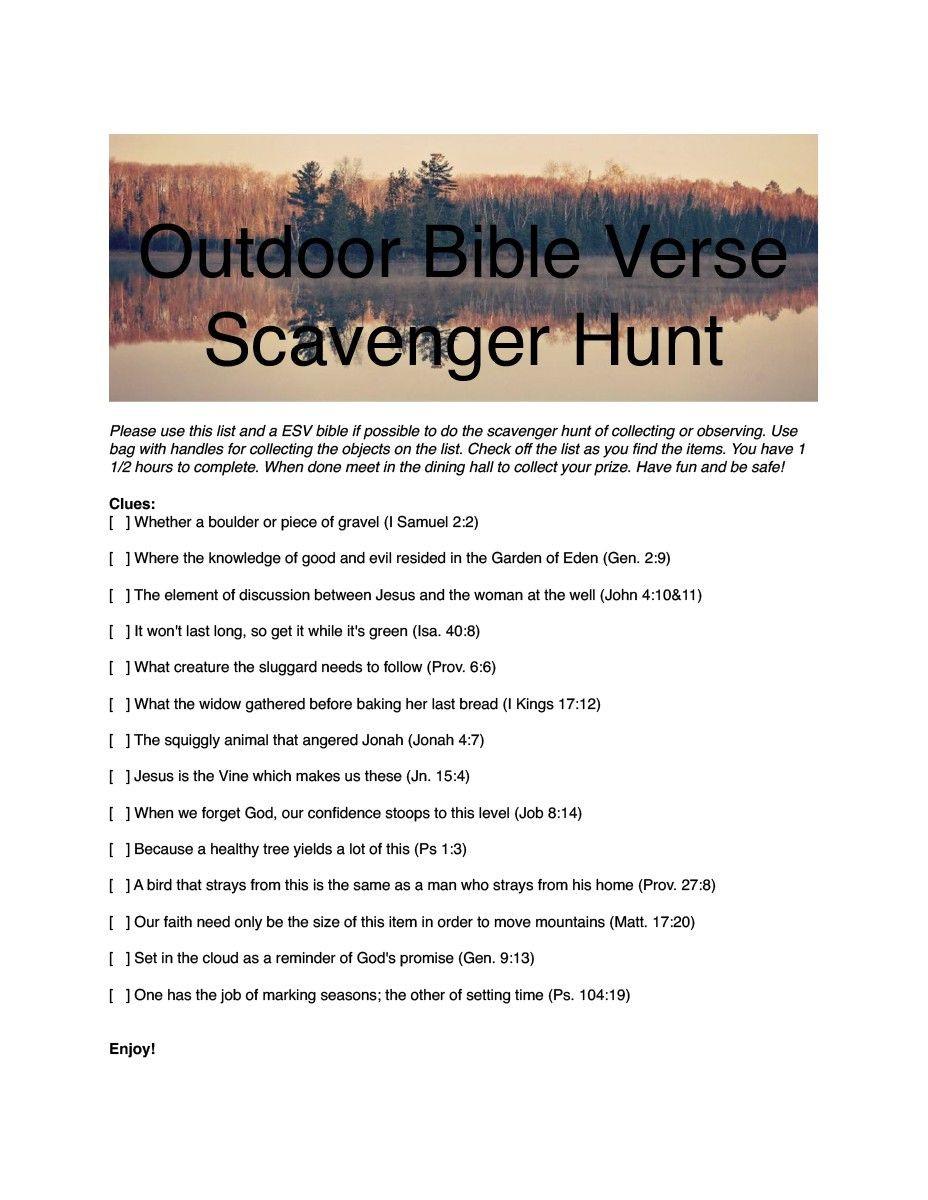 Bible Scavenger Hunt Worksheet Family Camp Scavenger Hunt 1 Pdf Vanessa Beckett Has