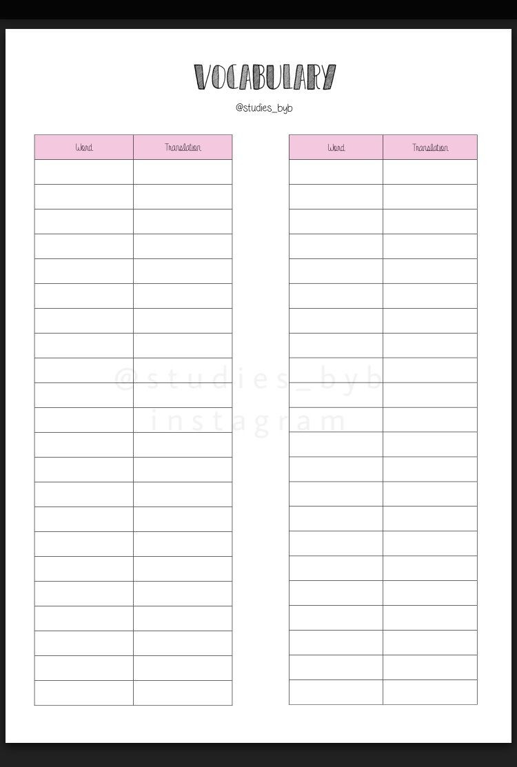 Blank Vocabulary Worksheet Template Free Printables Descargables Gratuitos Vocabulary Printables