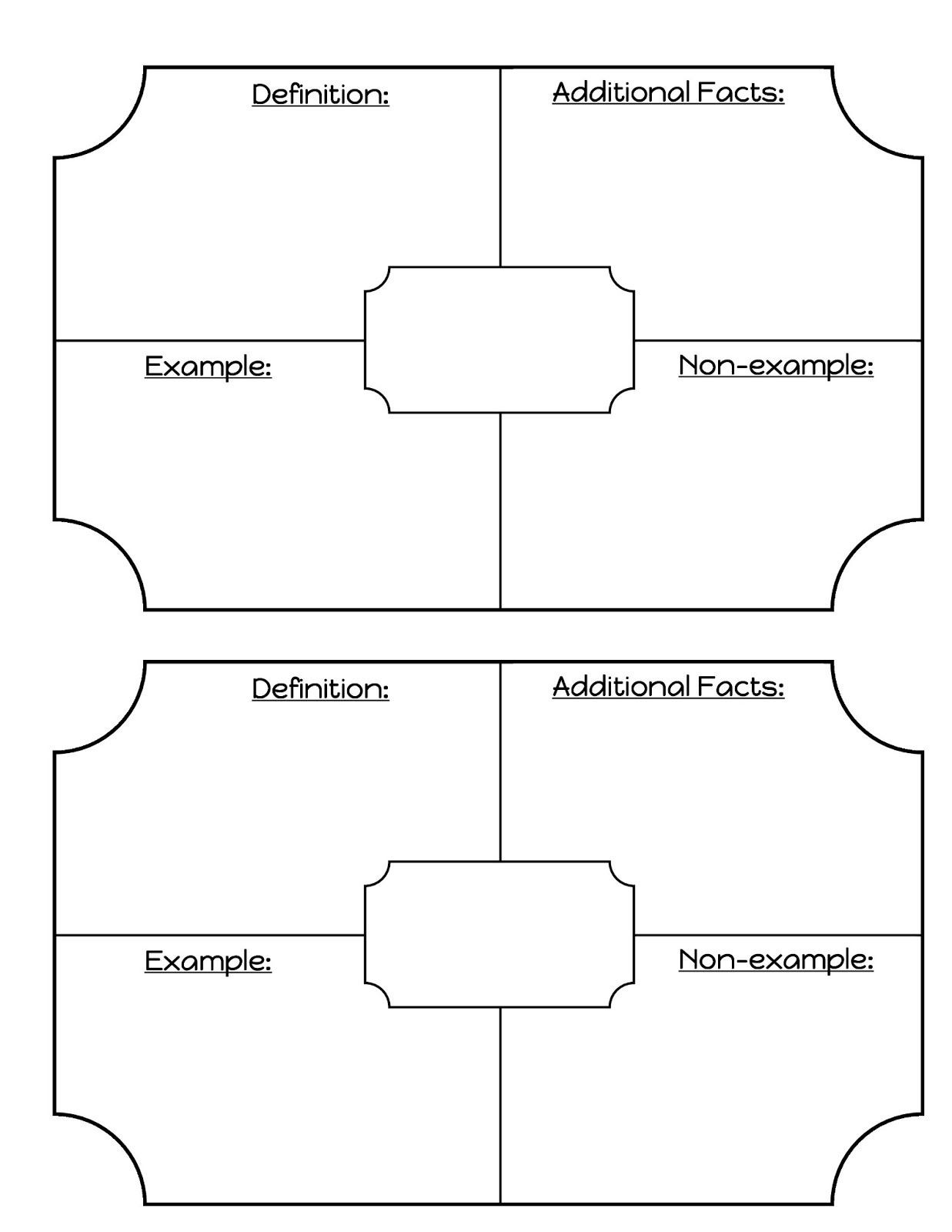 Blank Vocabulary Worksheet Template Math Printable Math Vocabulary Dictionary Template Math