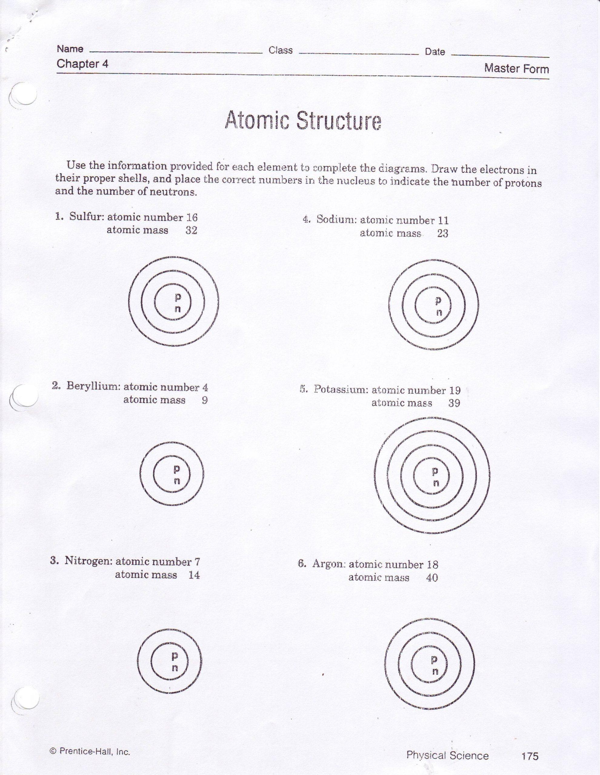 Bohr atomic Models Worksheet Answers Worksheets 42 astonishing atomic Structure Worksheet