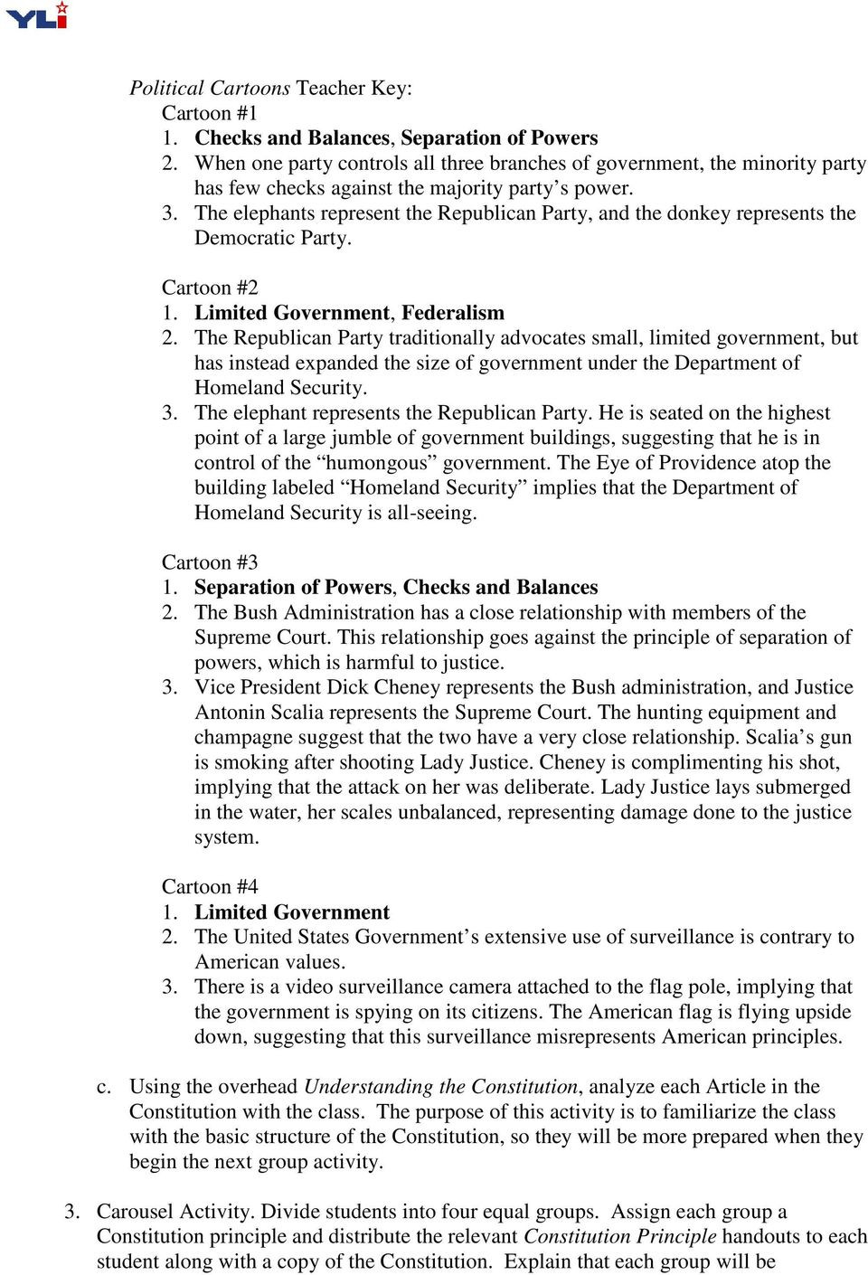 Checks and Balances Worksheet Answers Four Key Constitutional Principles Pdf Free Download