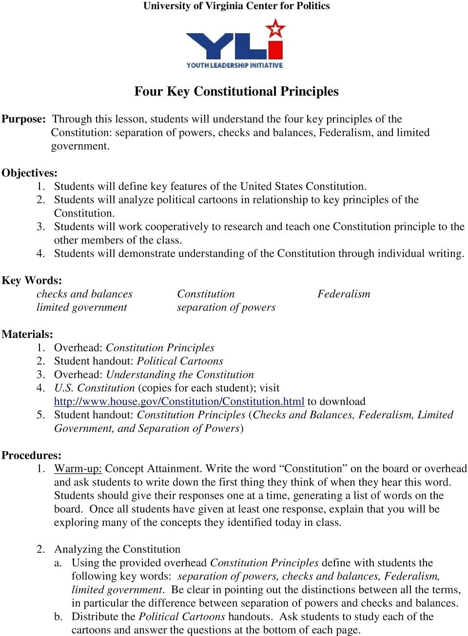 Checks and Balances Worksheet Answers Fresh the Constitution Worksheet