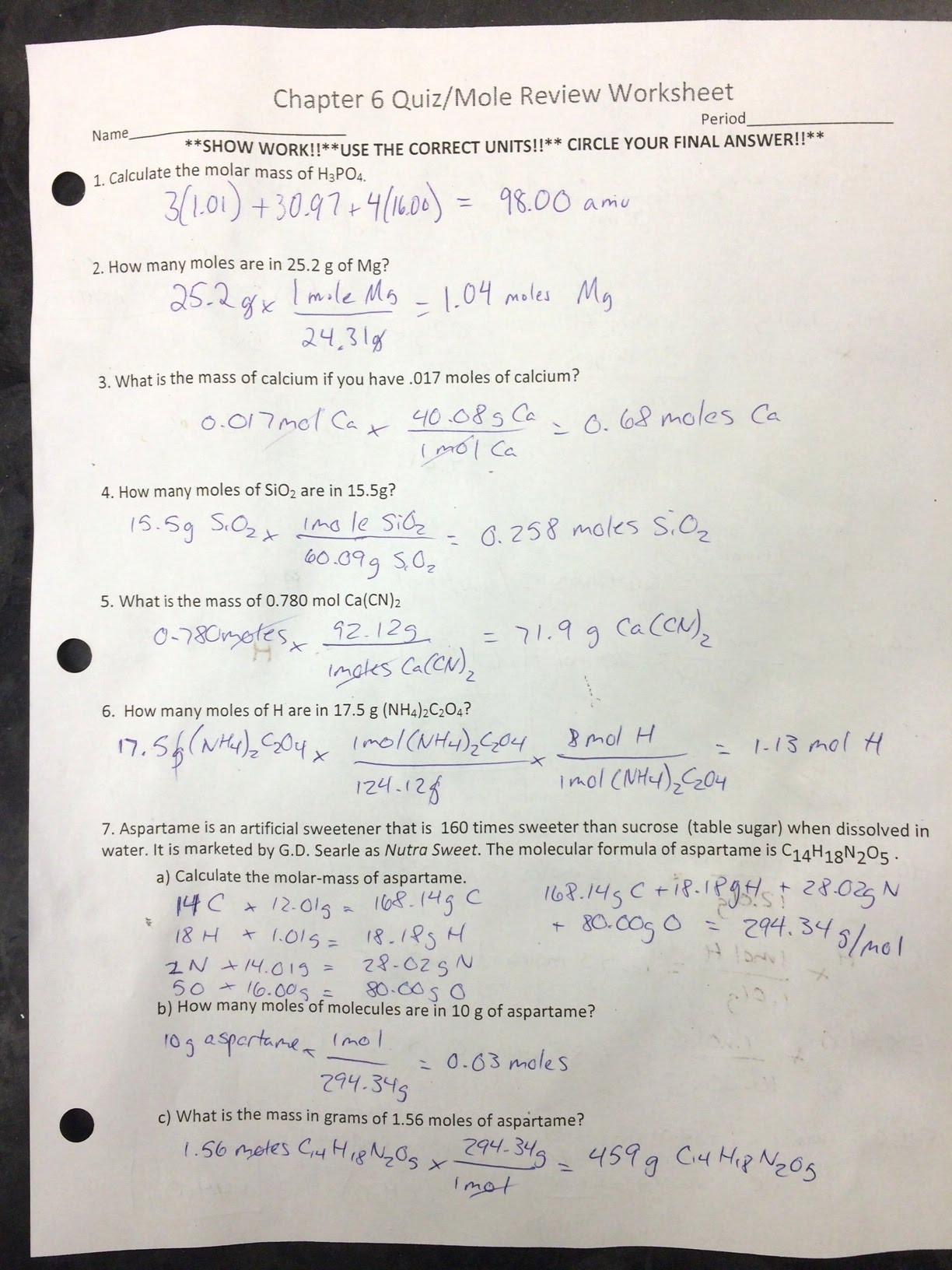 Chemistry Review Worksheet Answers assignments Labs Erhs Chemistry with Mr Stagg