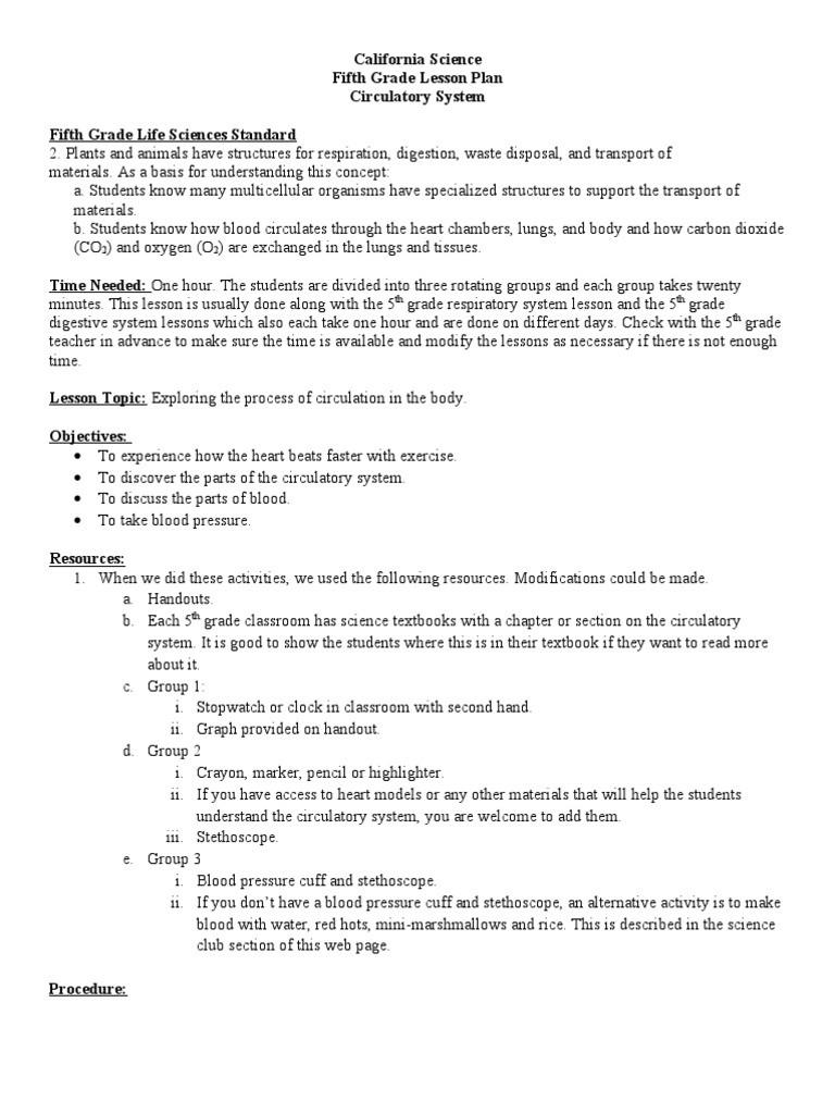 Circulatory System Worksheet Pdf 5th Grade Circulatory System Heart Valve