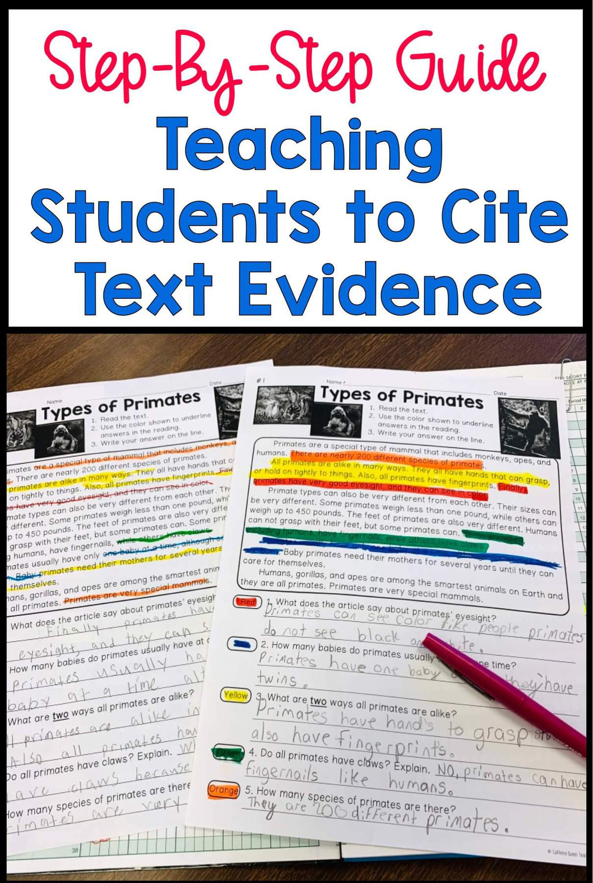 Citing Textual Evidence Worksheet How to Teach Students to Cite Text Evidence Caffeine Queen