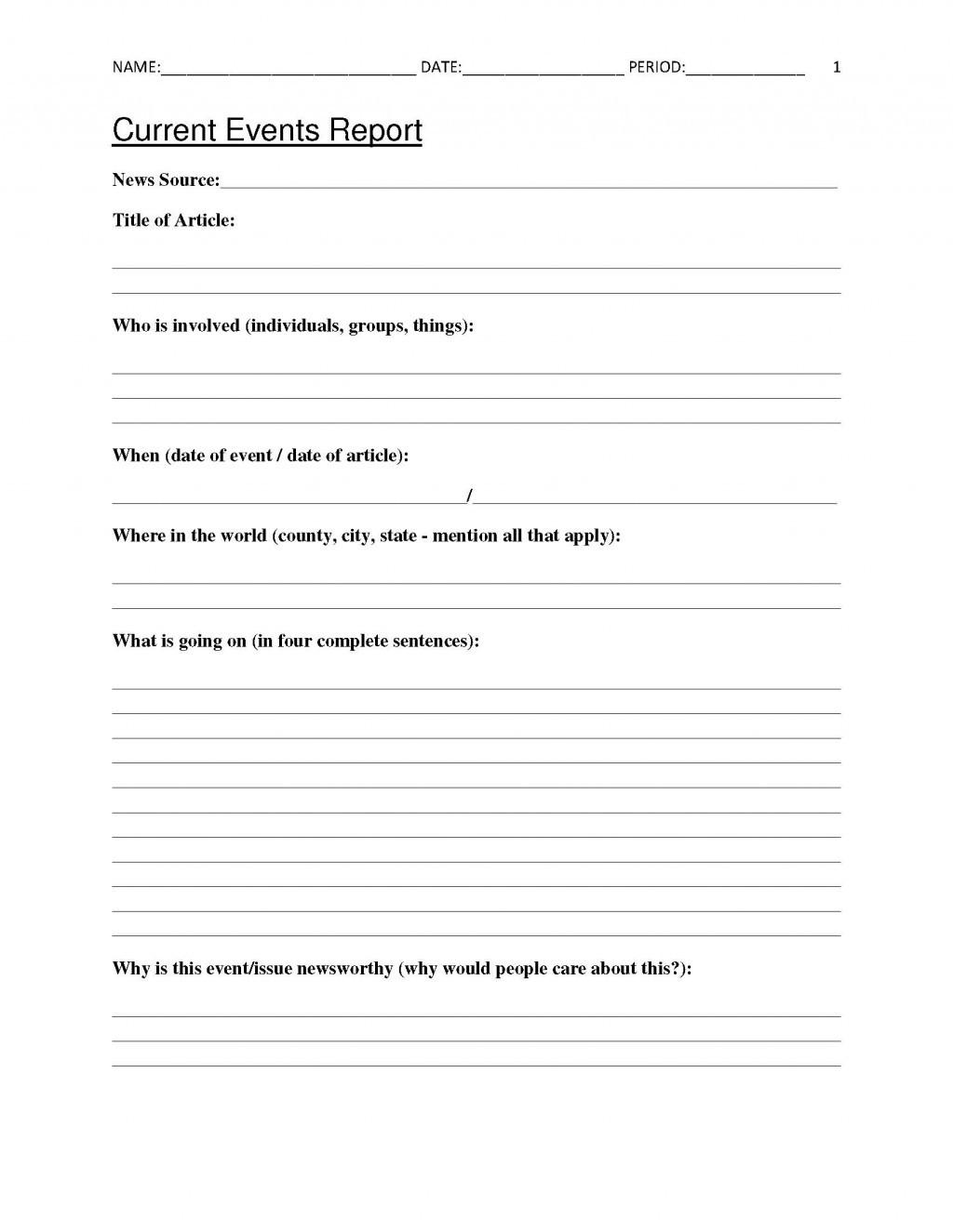 Cnn Students News Worksheet Cnn 10 Current event Worksheet