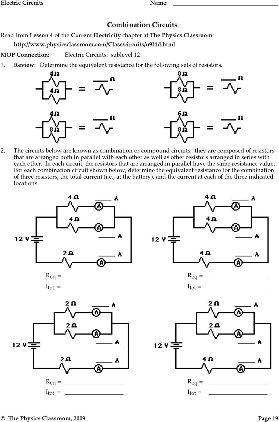 Combination Circuits Worksheet with Answers Bmoretattoo Page 16 Writing Practice Worksheets solids
