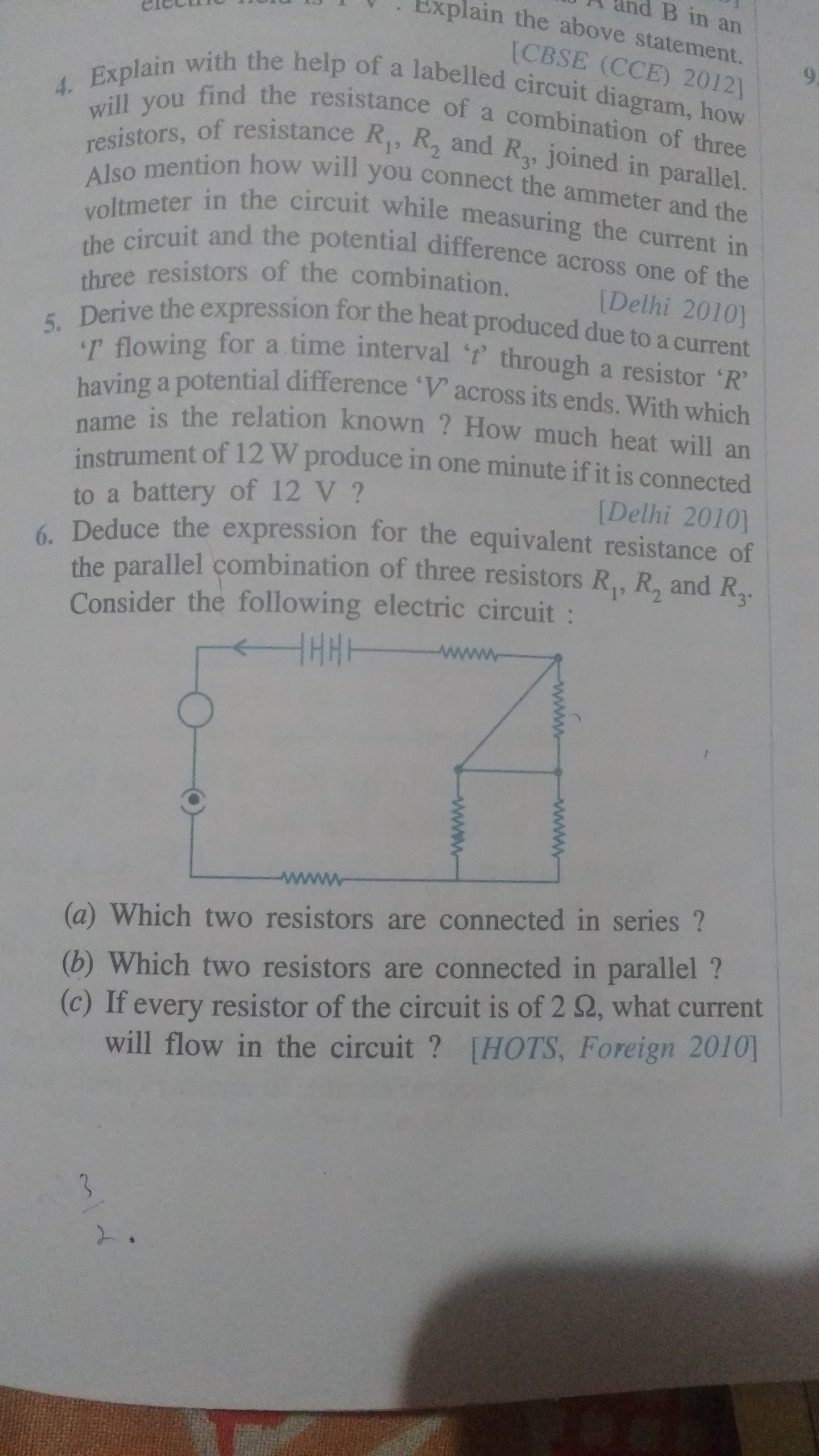 Combination Circuits Worksheet with Answers Questions and Answers Of Electricity Resistors In Series and