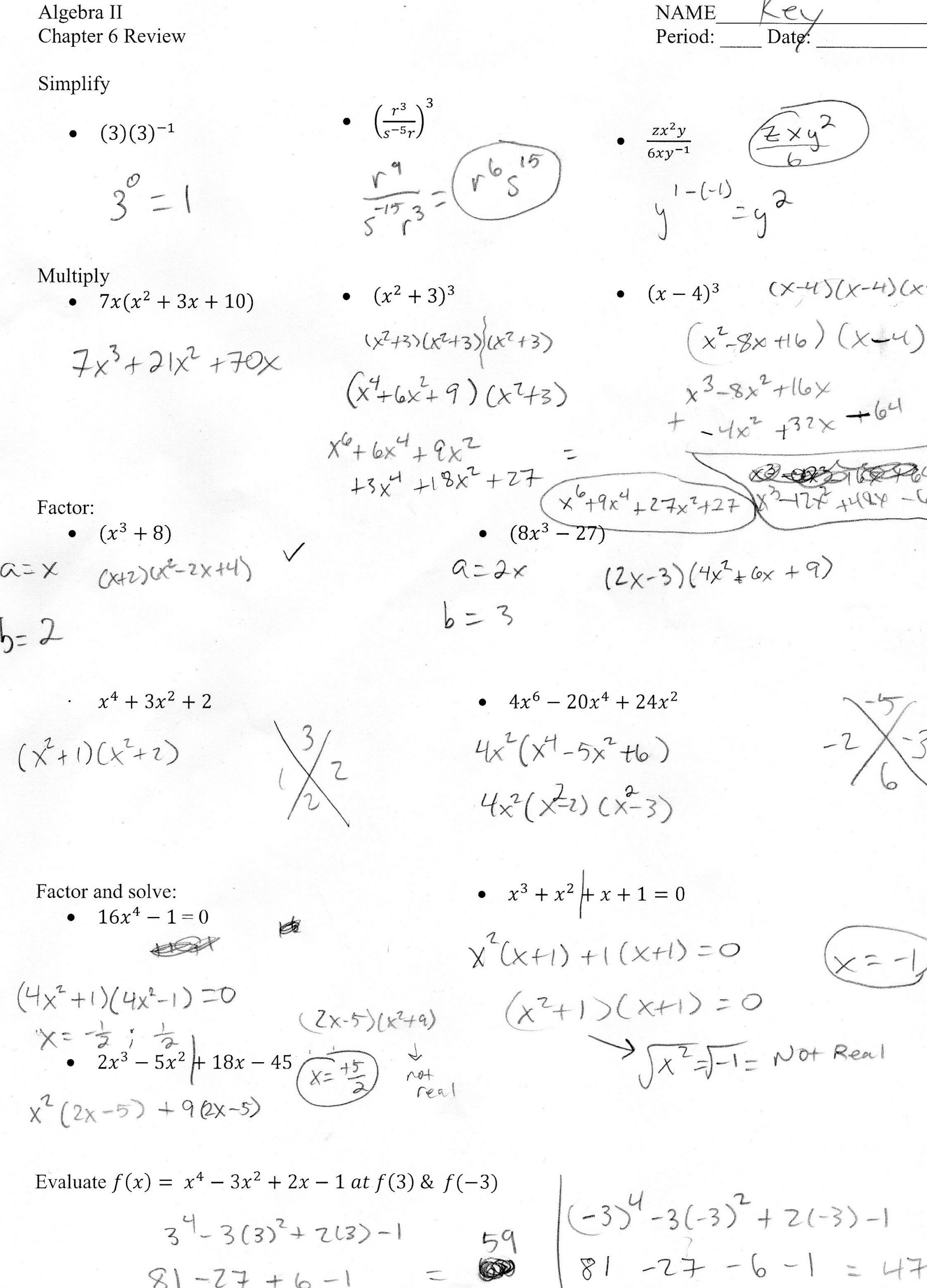 Complete the Square Worksheet solving Quadratic Equations by Pleting the Square