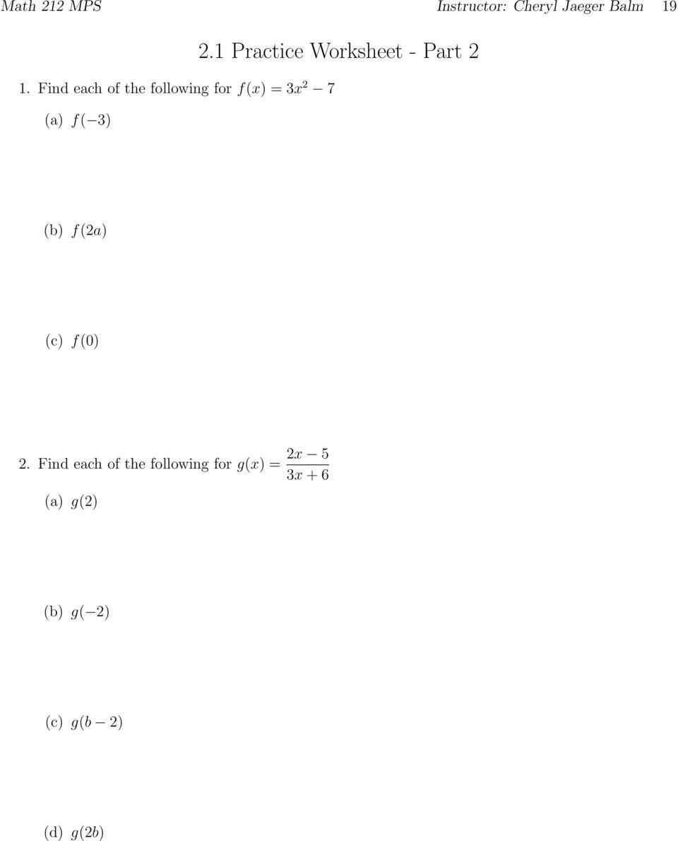Completing the Square Practice Worksheet 1 1 Practice Worksheet Pdf Free Download