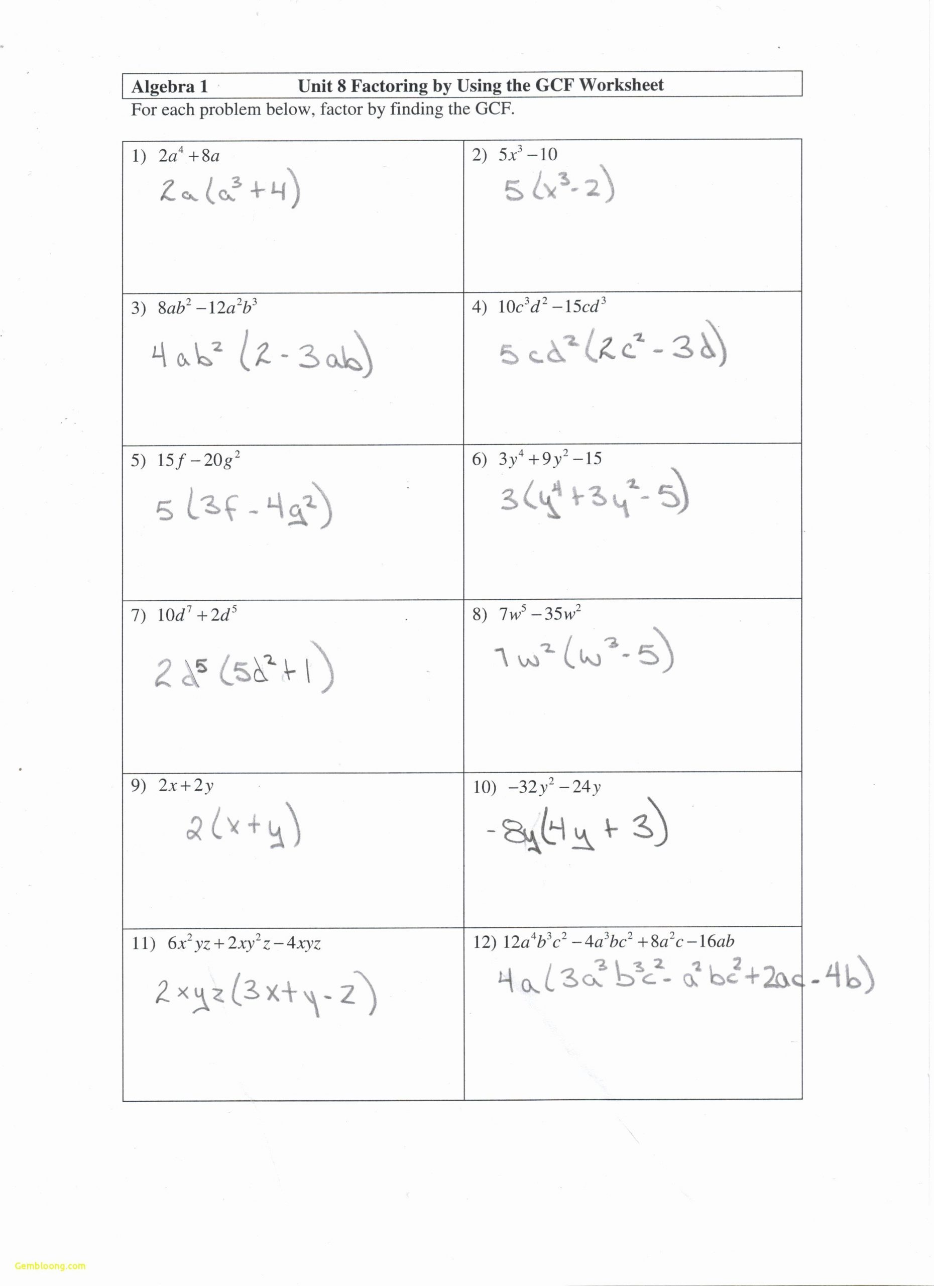 Completing the Square Practice Worksheet Pleting the Square Worksheet and Answers