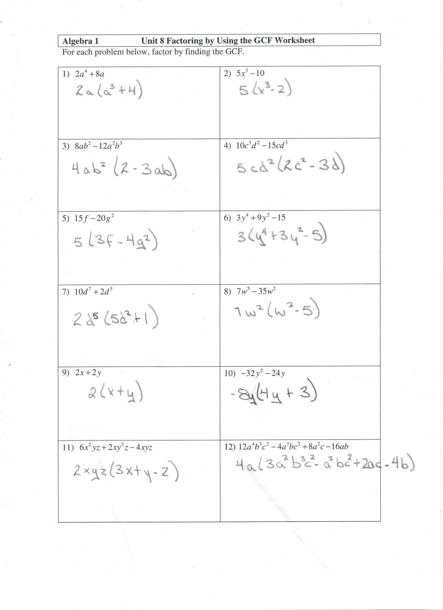 Composite Function Worksheet Answers Pound Function Worksheet