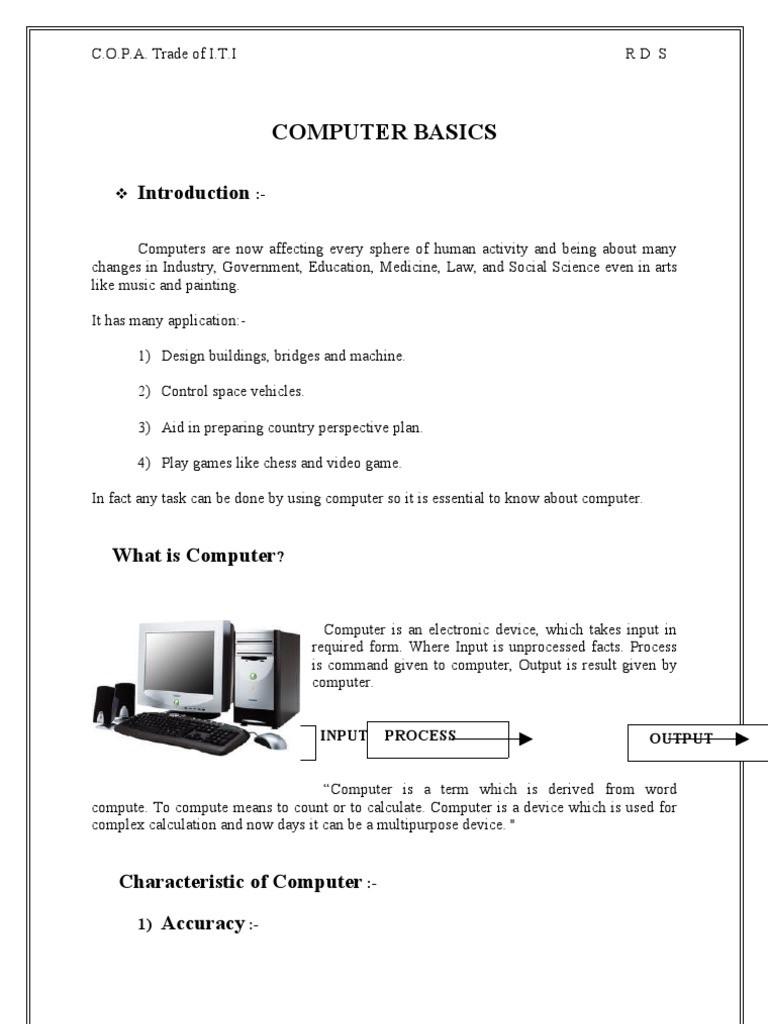Computer Basics Worksheet Answer Key Puter Basics Puter Data Storage