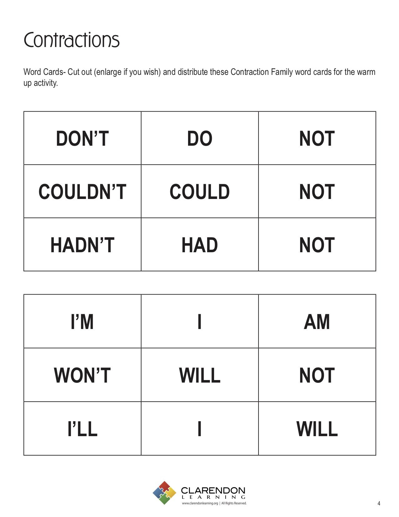 Contractions Worksheet 2nd Grade Contractions