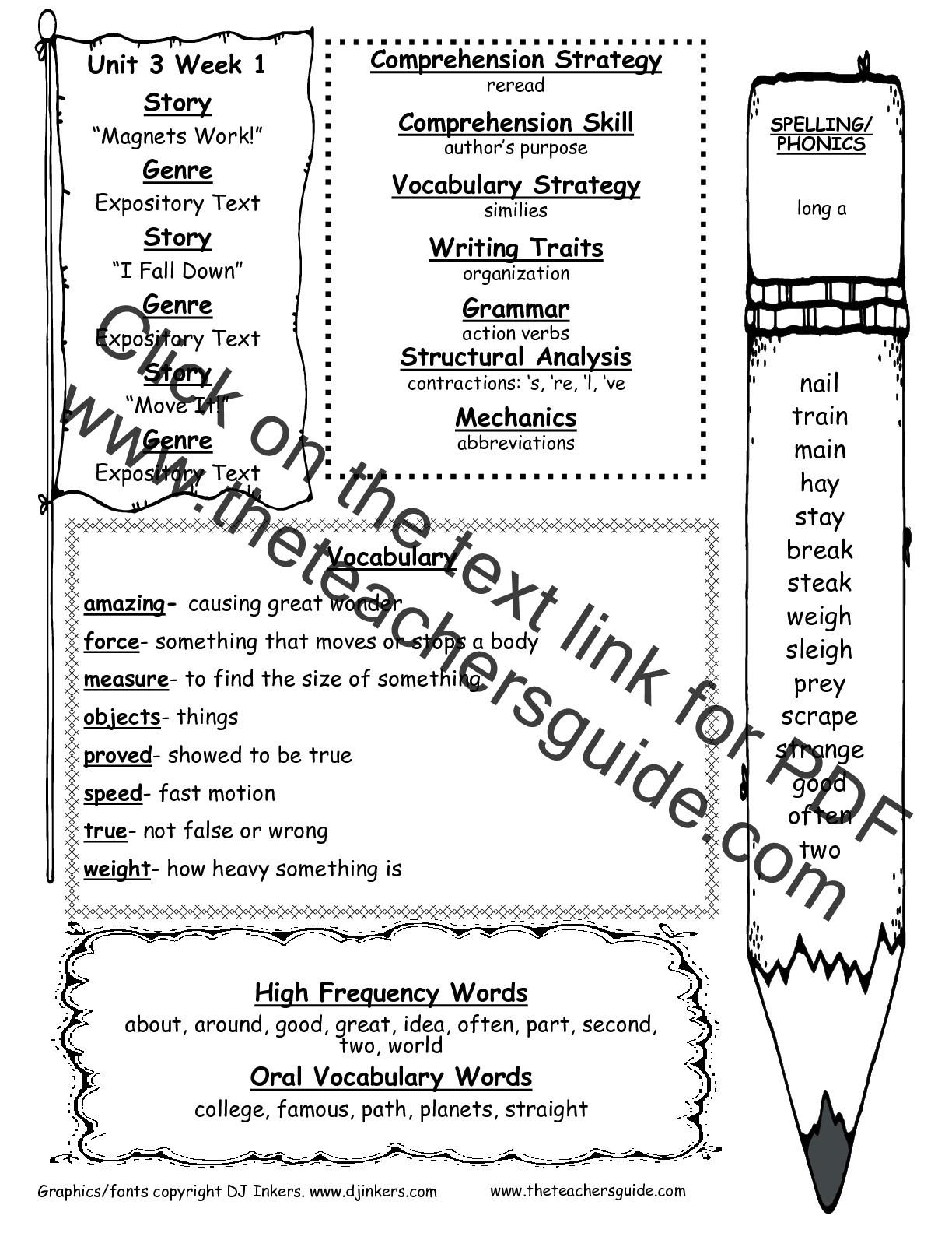Contractions Worksheet 2nd Grade Wonders Second Grade Unit Three Week E Printouts