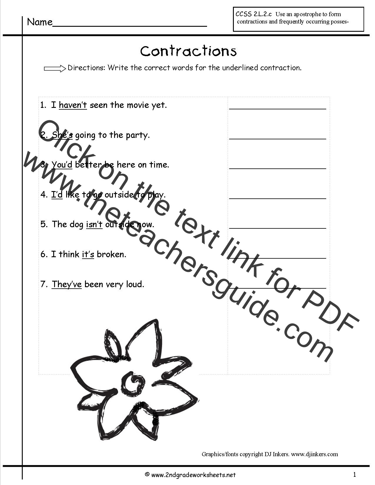 Contractions Worksheet 3rd Grade Free Contractions Worksheets and Printouts