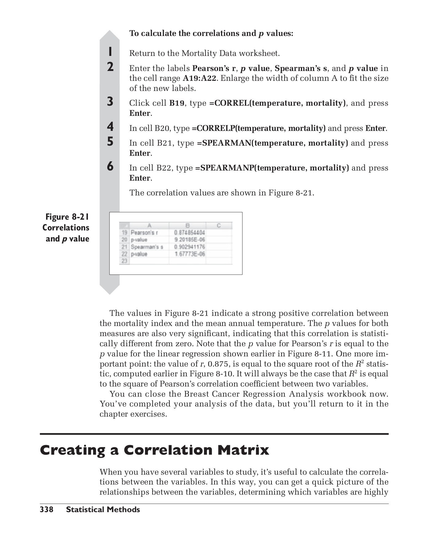 Correlation Vs Causation Worksheet Data Analysis with Microsoft Excel Pages 351 400 Text