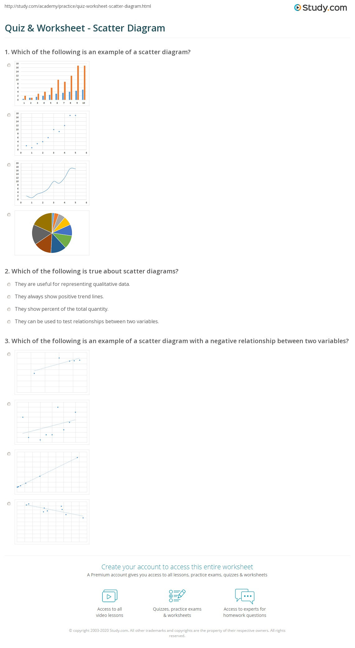 Correlation Vs Causation Worksheet Quiz & Worksheet Scatter Diagram