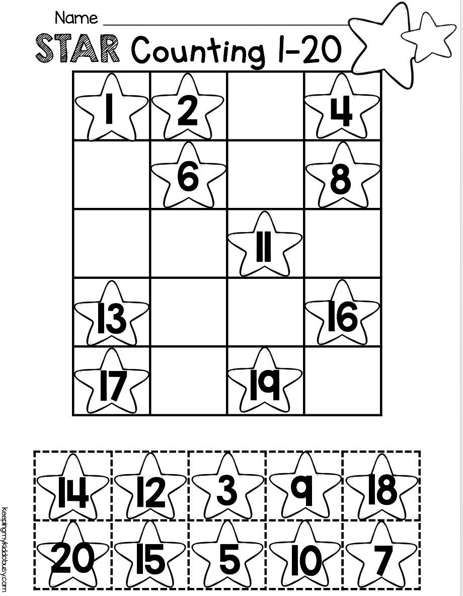 Counting to 20 Worksheet 3 Worksheet Trace Number 1 20 Worksheet Practice In 2020