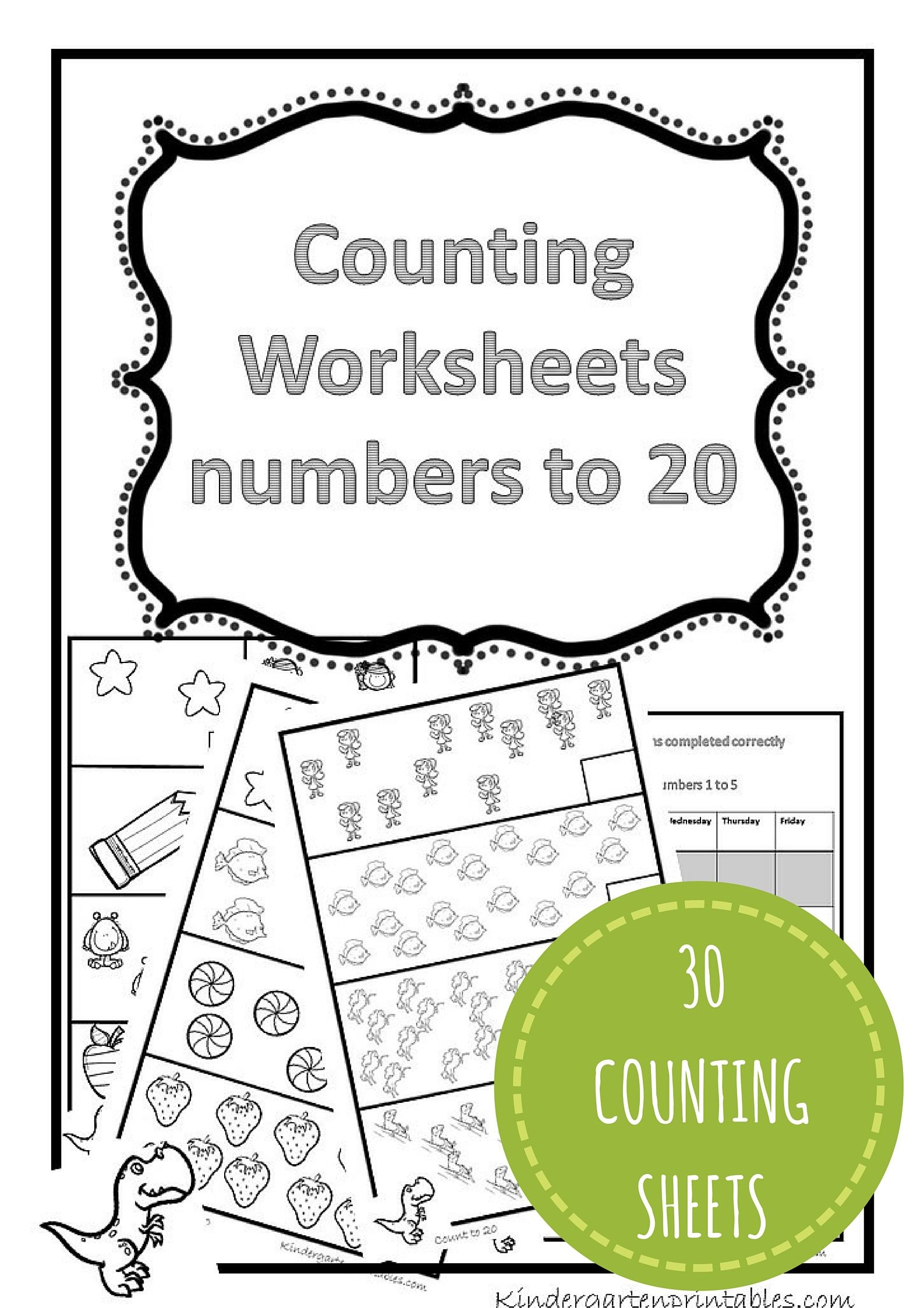 Counting to 20 Worksheet Counting Worksheets 1 20 Free Printable Workbook Counting