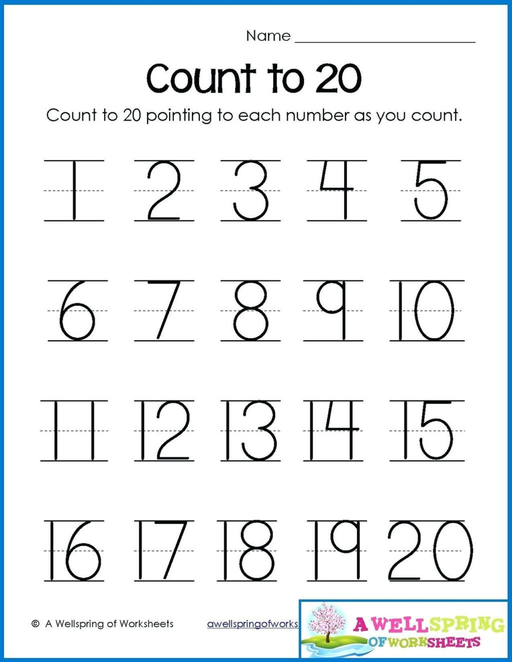 Counting to 20 Worksheet Worksheet Worksheet Preschool Free Transform Counting