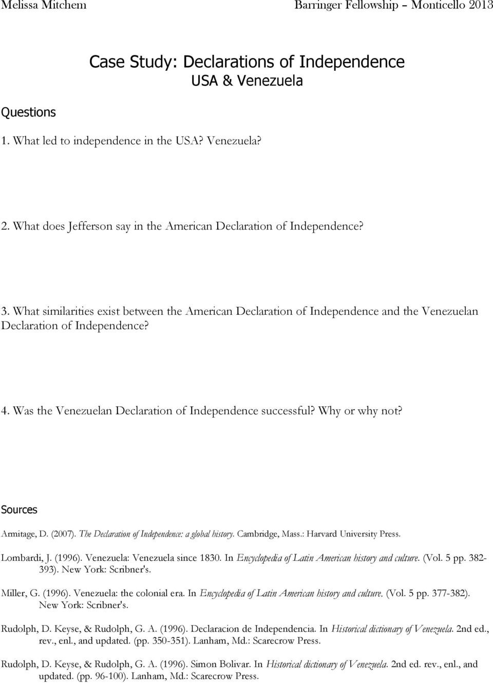 Declaration Of Independence Worksheet Answers the Declaration Of Independence Pdf Free Download