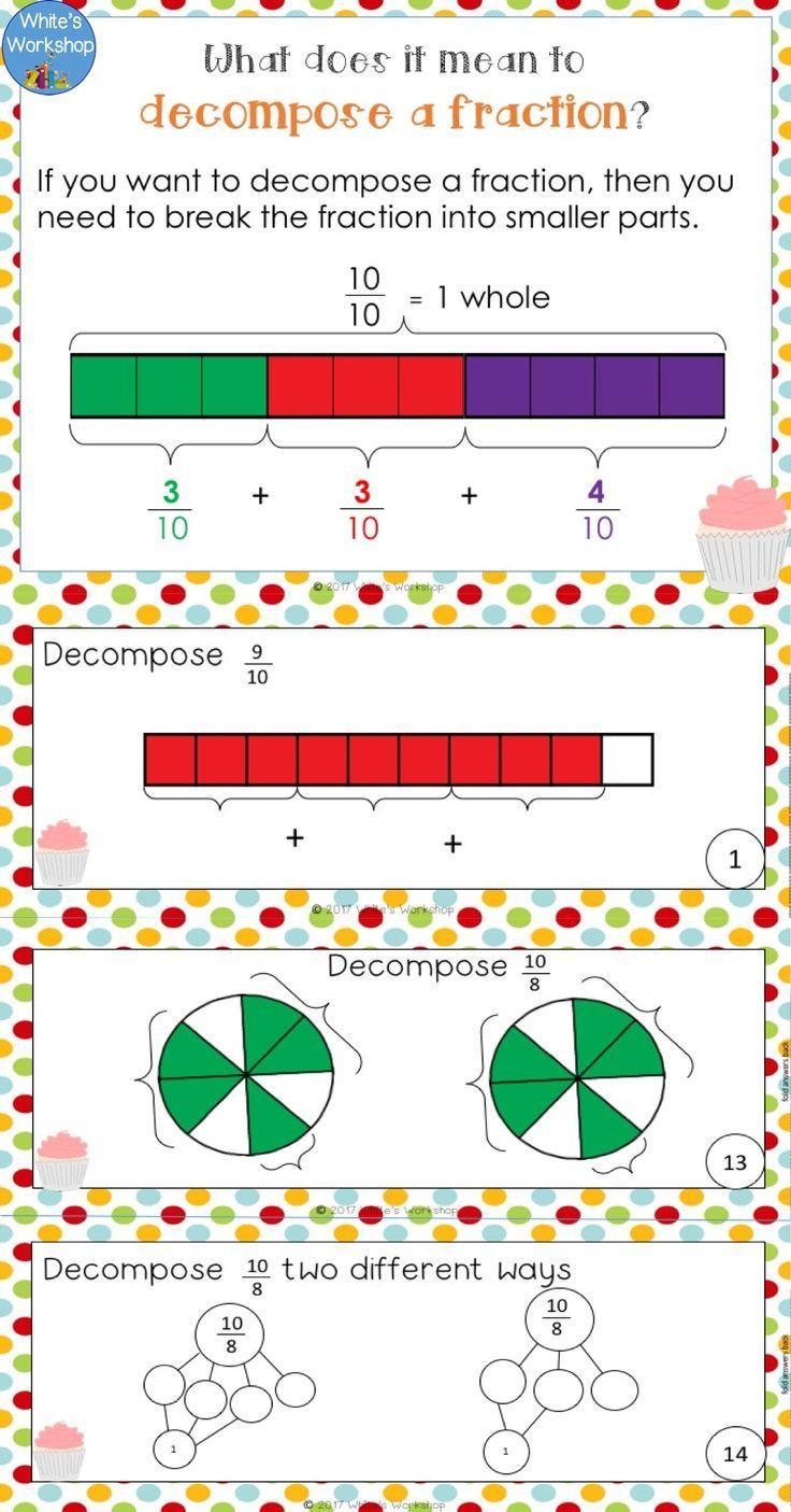 Decomposing Fractions 4th Grade Worksheet De Posing Fractions Worksheets and Task Cards