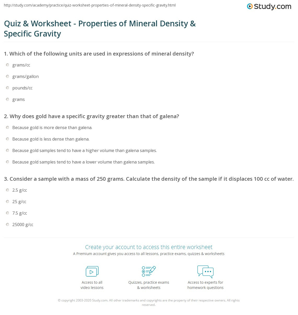 Density Calculations Worksheet 1 Worksheet Density and Specific Gravity