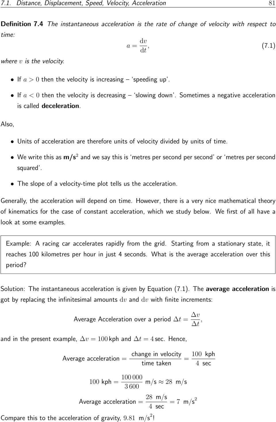 Determining Speed Velocity Worksheet to Define Concepts Such as Distance Displacement Speed